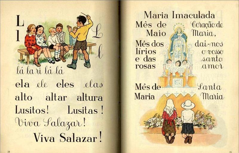 Do ''Livro da Primeira Classe'' editado pelo Ministério da Educação em 1950