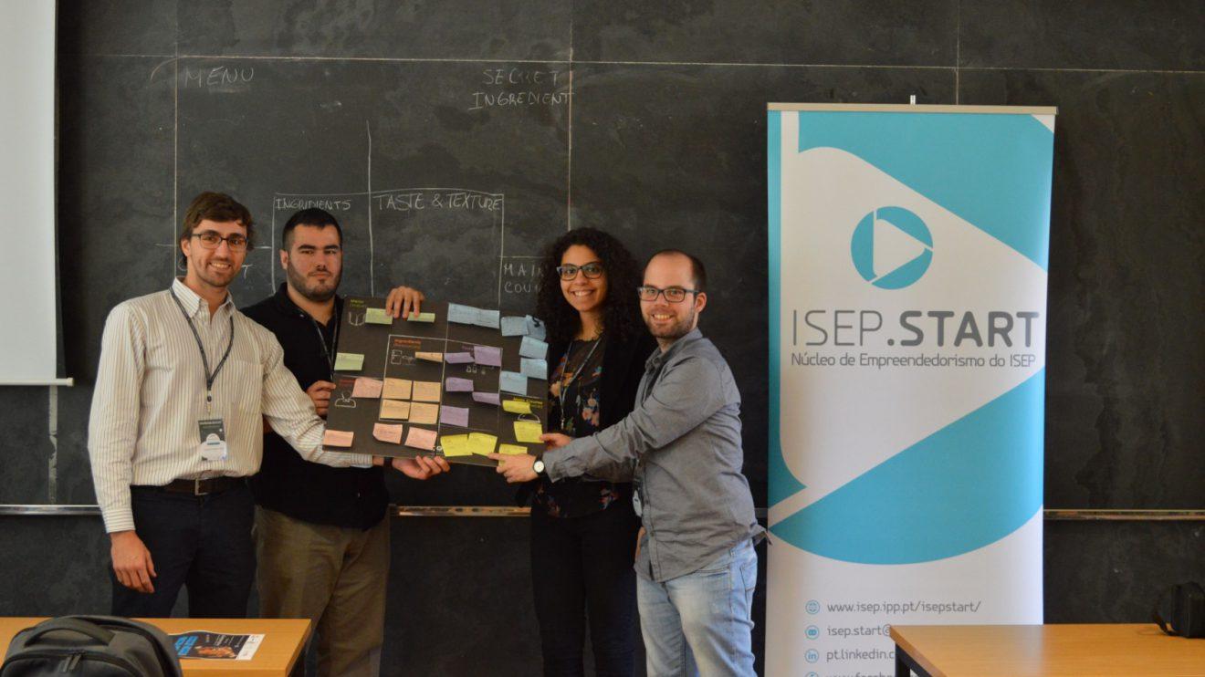 Equipa Y, vencedora do desafio   Foto: ISEP.Start