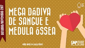 Banner da Mega Dádiva de Sangue e Medula Óssea