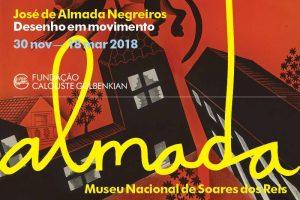 """Cartaz da exposição """"Almada Negreiros: Desenhos em Movimento"""". Retirada de: https://goo.gl/uiAeMz"""