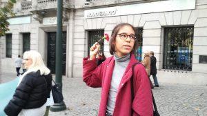Sofia Estudante, participante da marcha