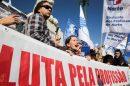 Professores em protesto. Lusa: Tiago Petinga