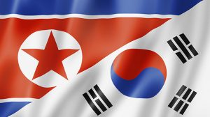 North and South Korea flag