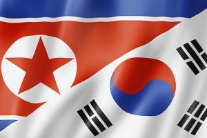 North and South Korea flag