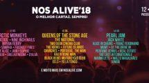 Cartaz do festival NOS Alive 2018.