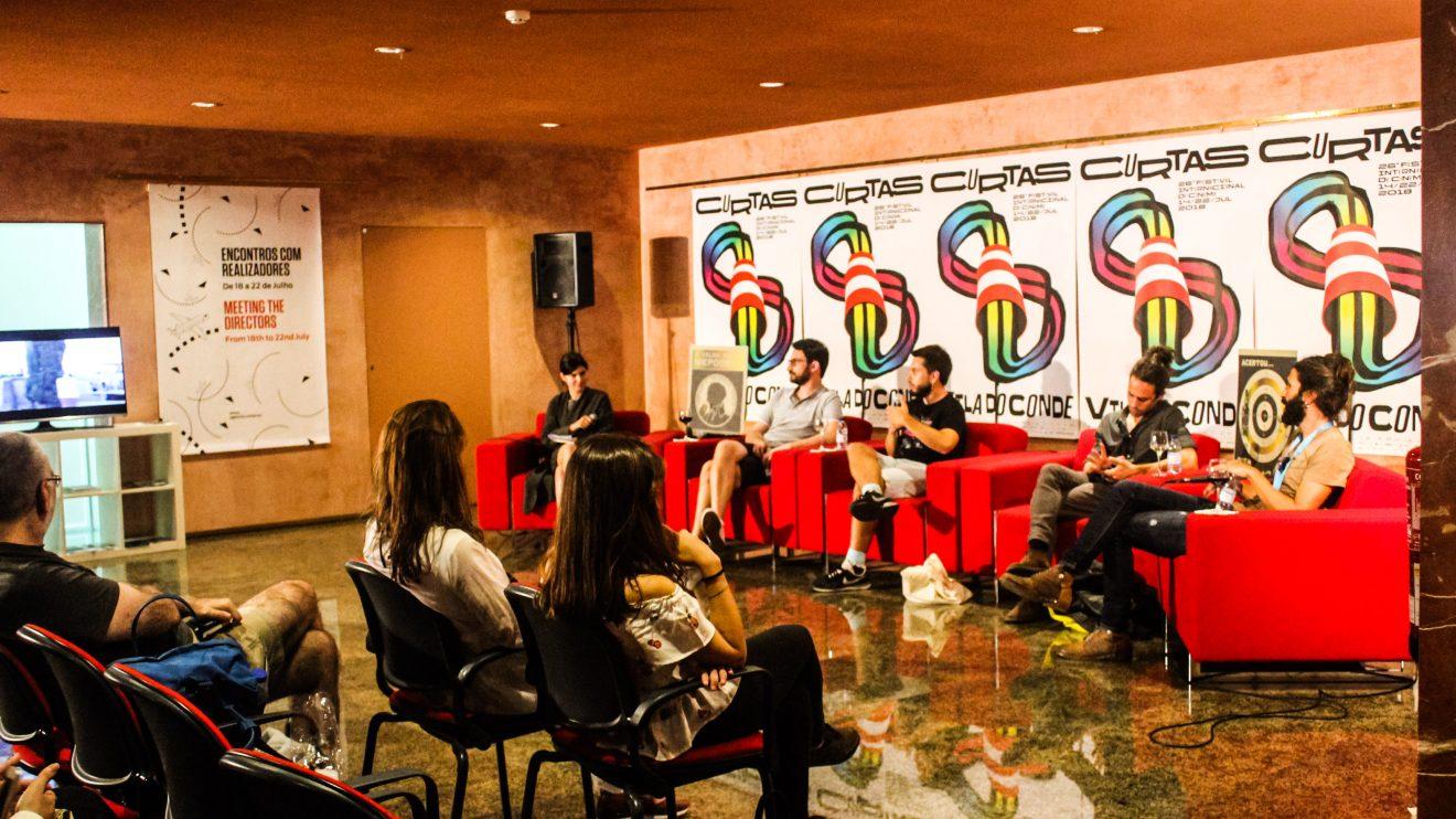 Encontros com realizadores. Fotografia: Sofia Silva