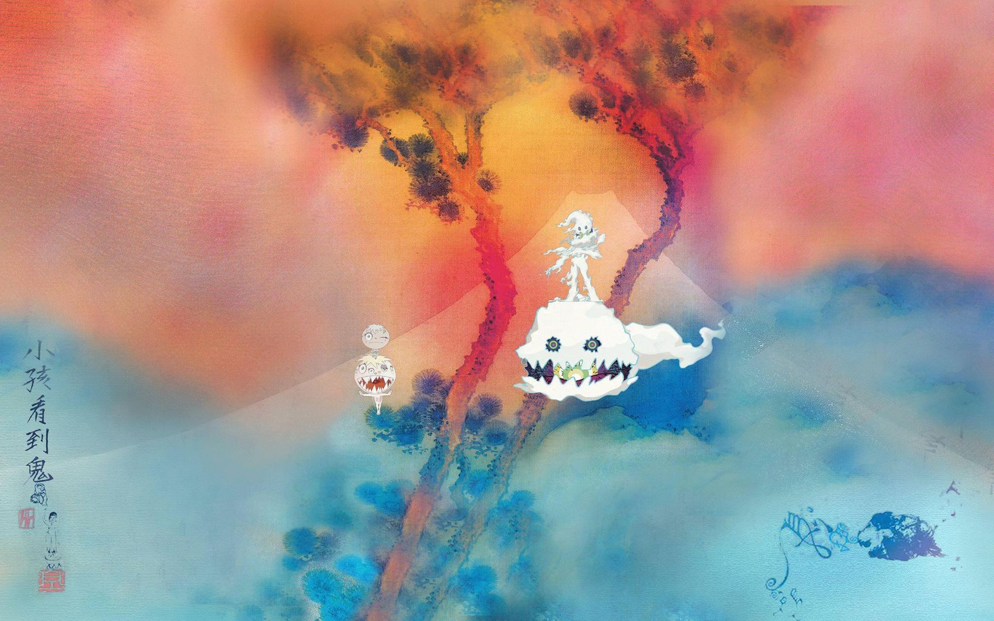 Capa de Kids See Ghosts, de Kanye West e Kid Cudi.