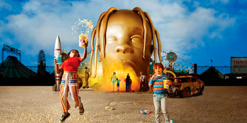 "Capa de ""Astroworld"", de Travis Scott."