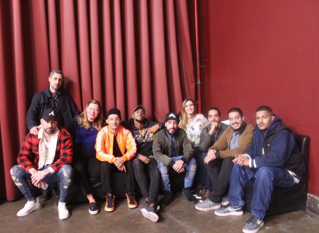 OUPA! e orientadores antes do concerto no Plano B Foto: Adriana Pinto