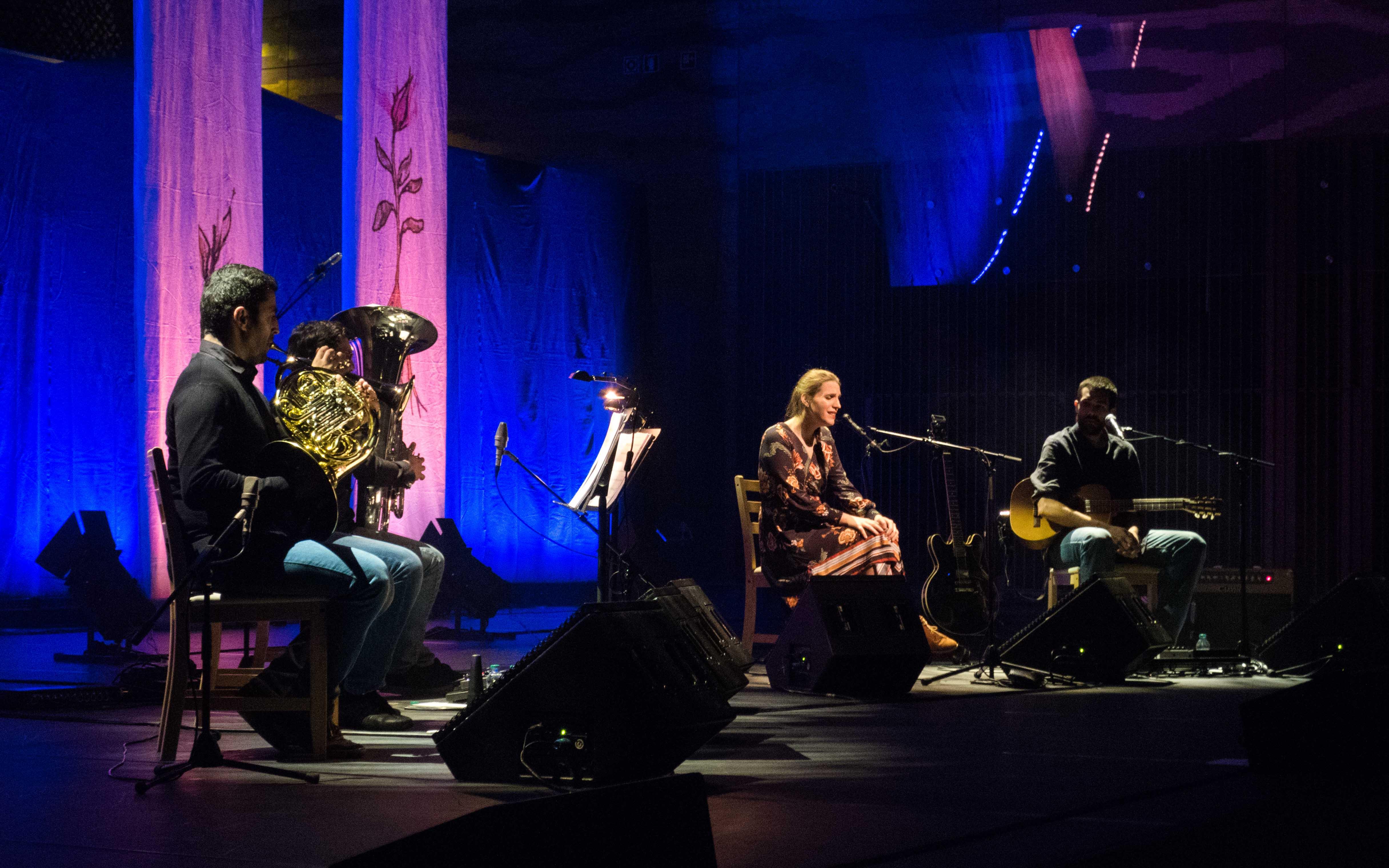 Ângelo Caleira, Gil Gonçalves, Luísa Sobral e Manuel Rocha. Fotografia por Mariana Cardoso.