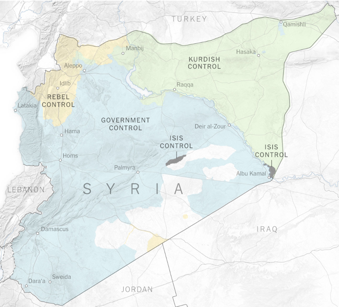 Fronteira que separa o norte da Síria do território turco