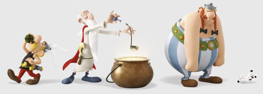 """Personagens de """"Astérix e o Segredo da Poção Mágica""""."""