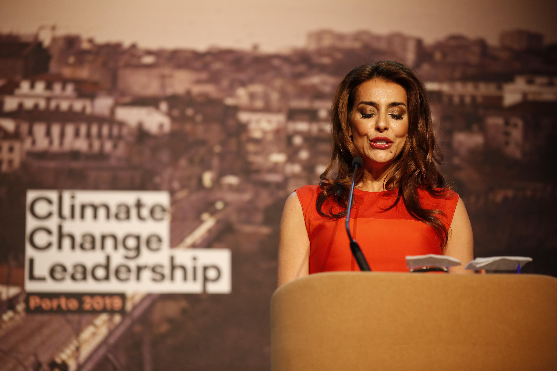 O Porto Summit foi apresentado por Catarina Furtado que recordou o impacte das alterações climáticas nos países em desenvolvimento. Fotografia: Miguel Marques Ribeiro.