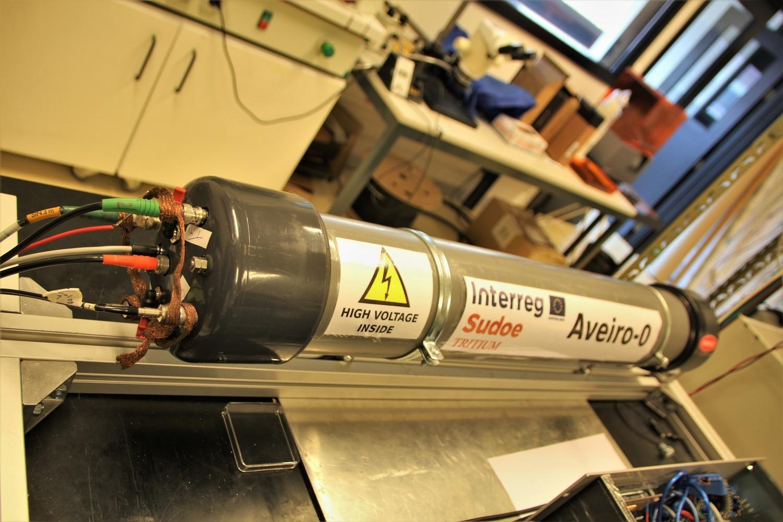 O detetor de trítio em tempo real já está instalado em Almaraz. Fonte: Universidade de Aveiro.