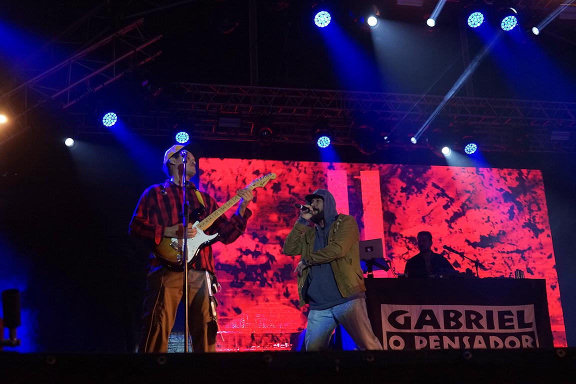 Gabriel, o Pensador na Queima das Fitas do Porto 2019. Fotografia de Margarida Coelho.