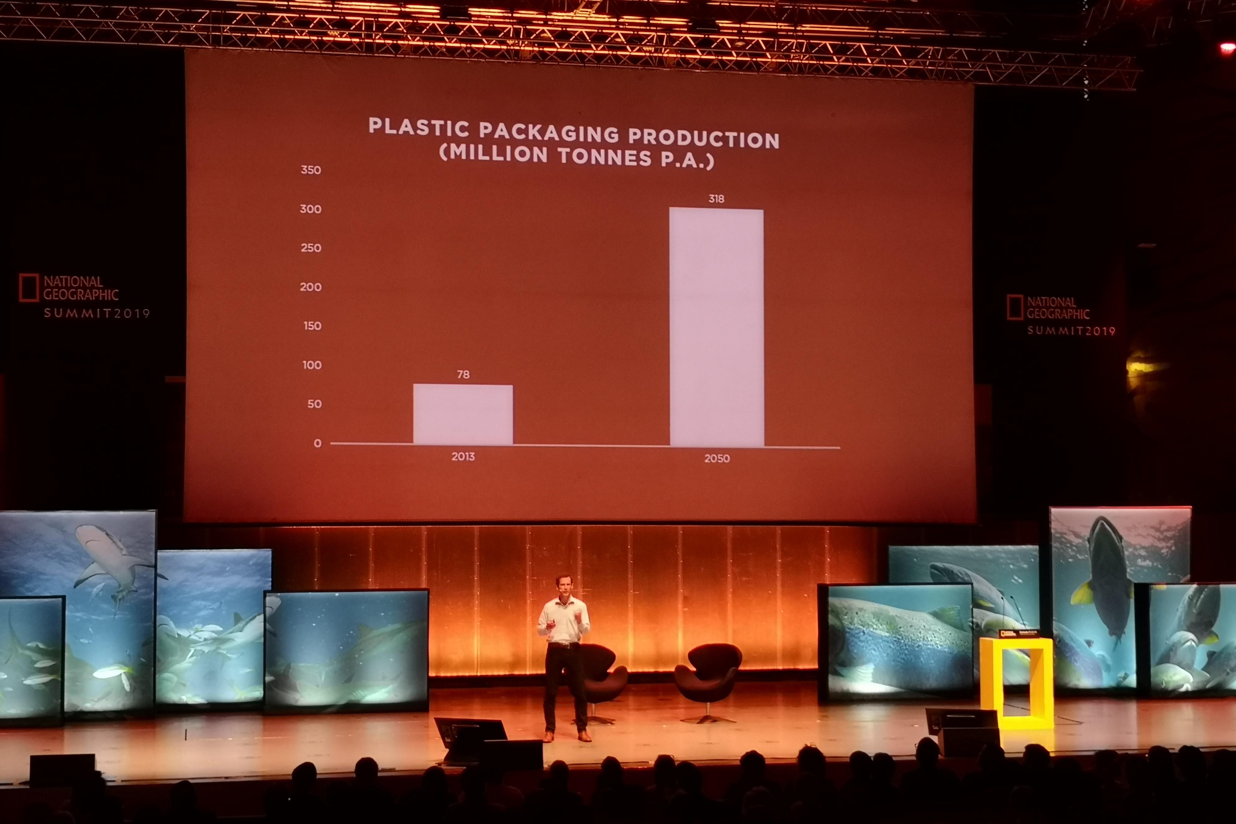 Jamie Butterwoth explicou o conceito de economia circular. Fotografia: Mariana Miranda.