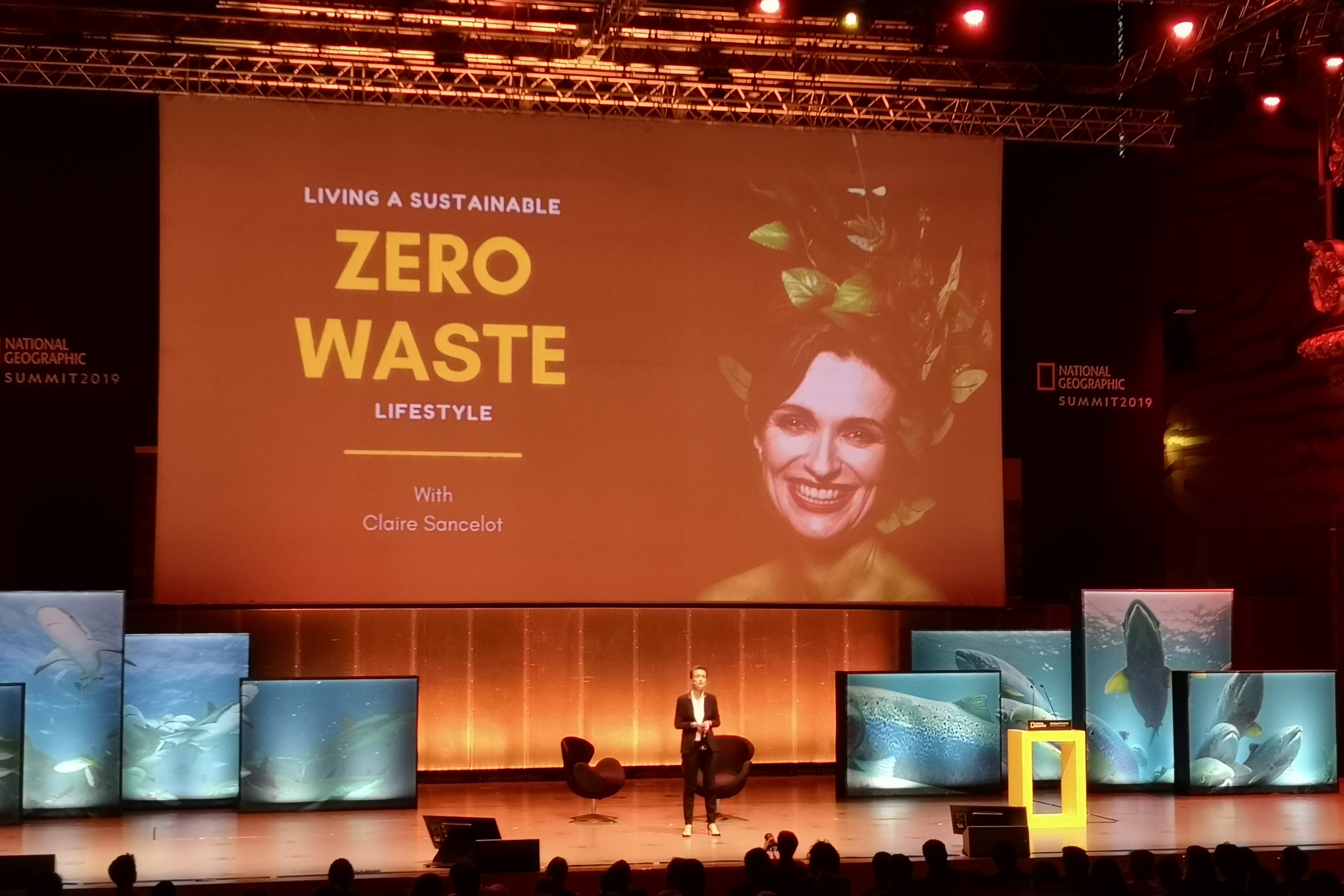 Claire Sancelot explicou como diminuir os resíduos do dia-a-dia. Fotografia: Mariana Miranda.