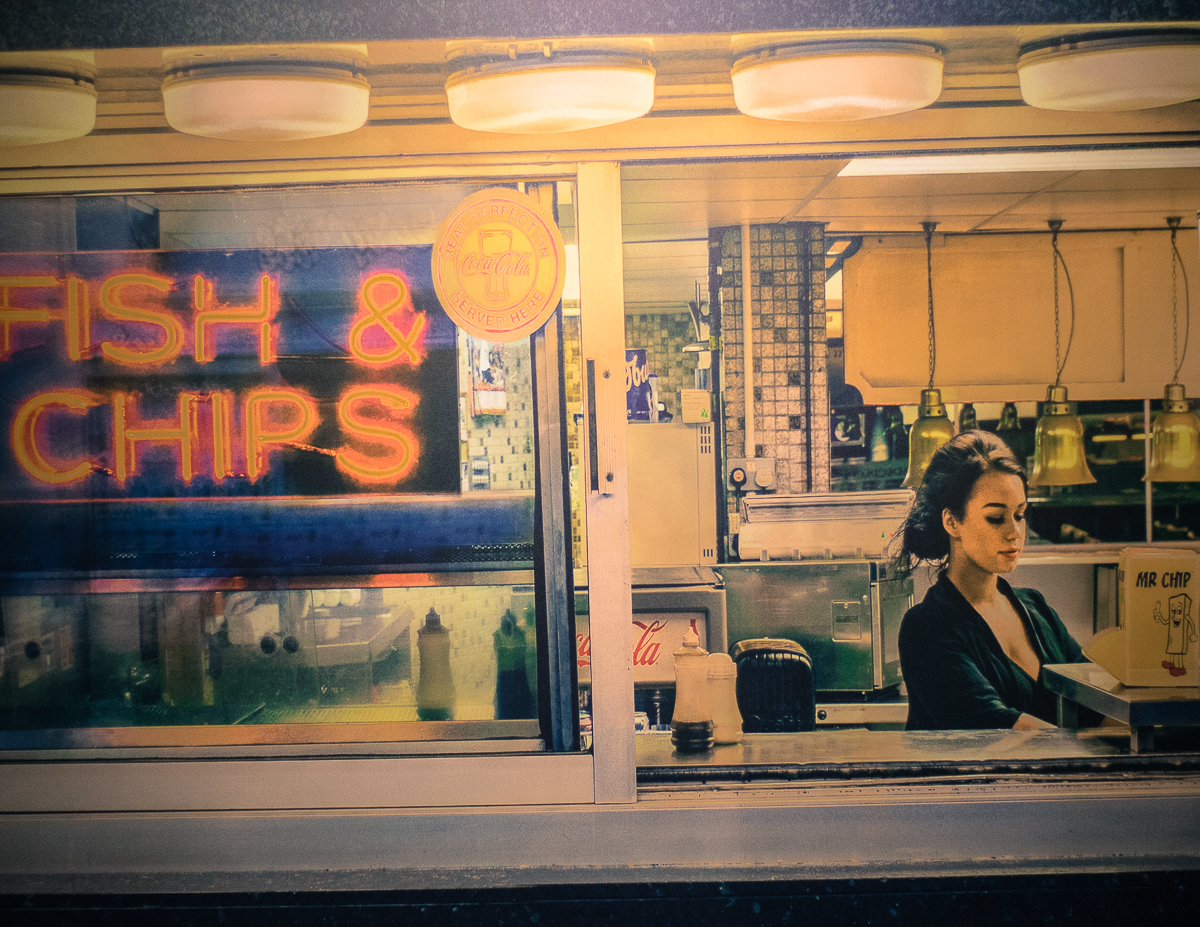 """The Perfect Fish & Chips"". Barry Cawston: Weston-super-Mare (2015). Fotografia: Daniel Dias (infomedia)"