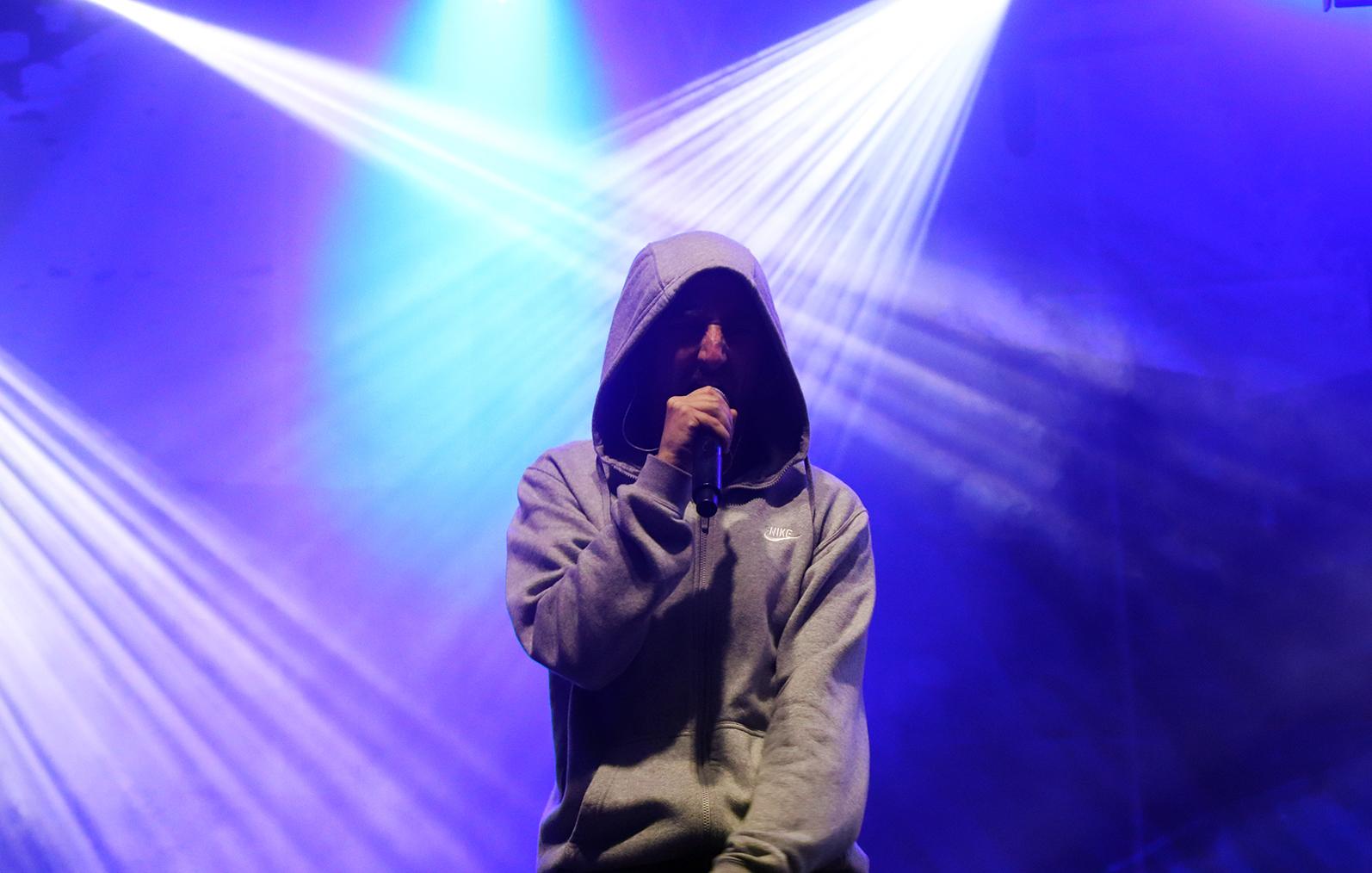 """Sam the Kid apresenta """"Mechelas"""" com os convidados do álbum. Fotografia: Inês Moura Pinto."""
