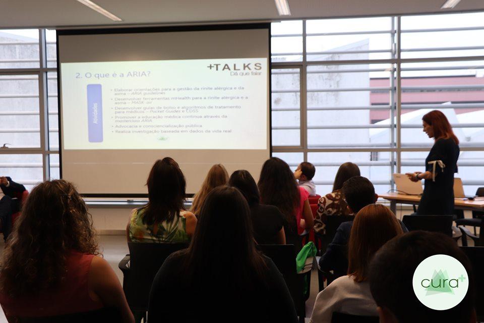 Conferências +TALKS. Fotografia: Associação Cura+.