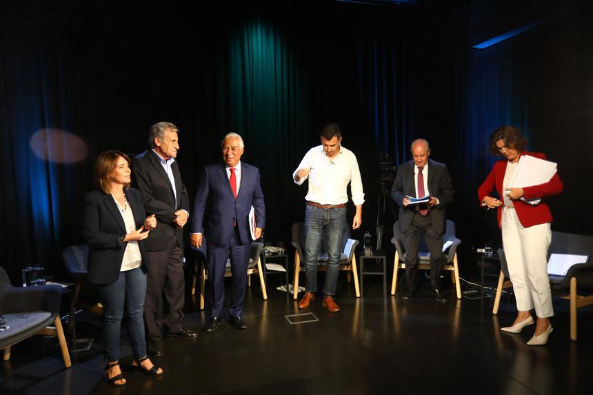 Nuno Botelho/ Expresso. Os líderes dos partidos com assento parlamentar no debate das rádios (TSF/RR/Antena 1)..