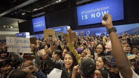 Centenas de pessoas manifestam-se durante a COP25. Annabelle Avril: WECF