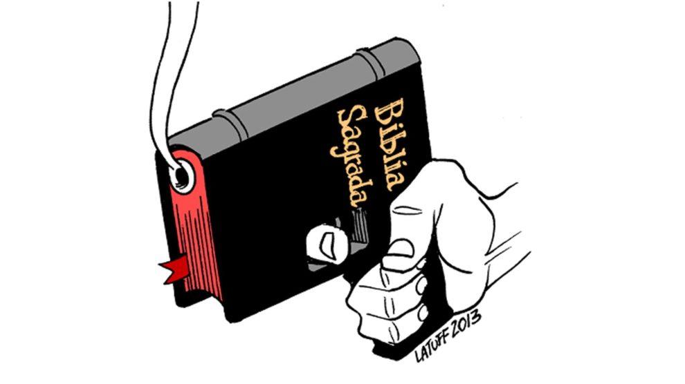 [Cartoon: Carlos Latuff]