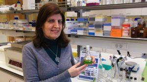 """Teresa Borges, responsável pela criação do """"Rotating Flat Plate Photobioreactor""""."""