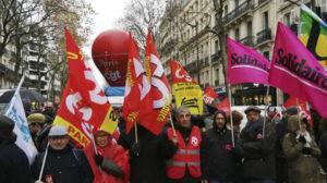 Manifestação da Confederação Geral de Trabalhadores (CGT) francesa, em Paris. Foto: CGT