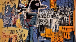 "[Imagem: ""Bird on Money"", pintura de Basquiat e capa de ""The New Abnormal""]"