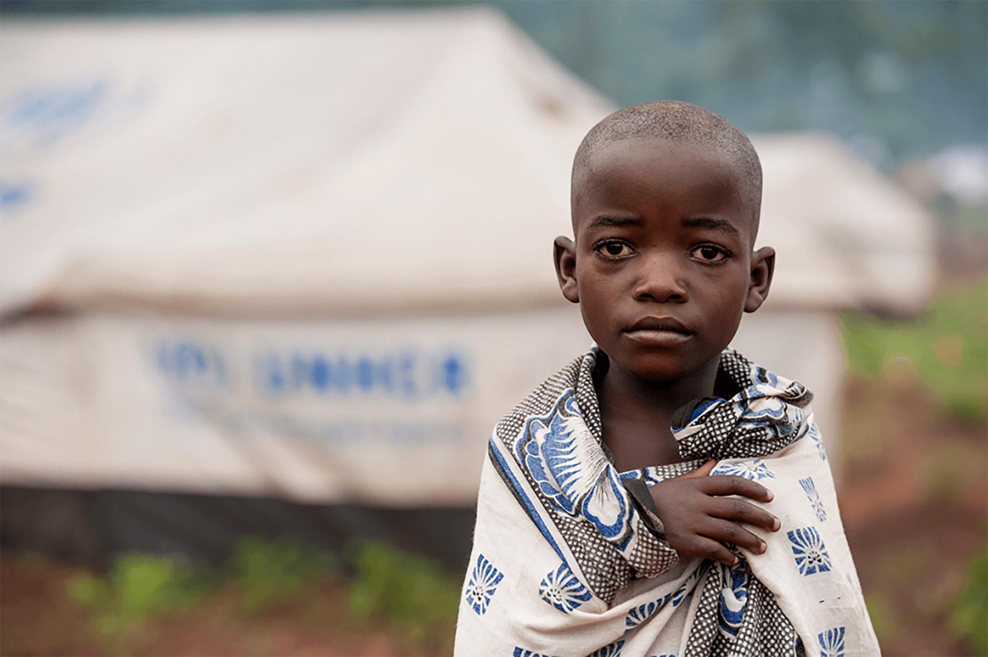 Criança refugiada. Fonte: www.un.org