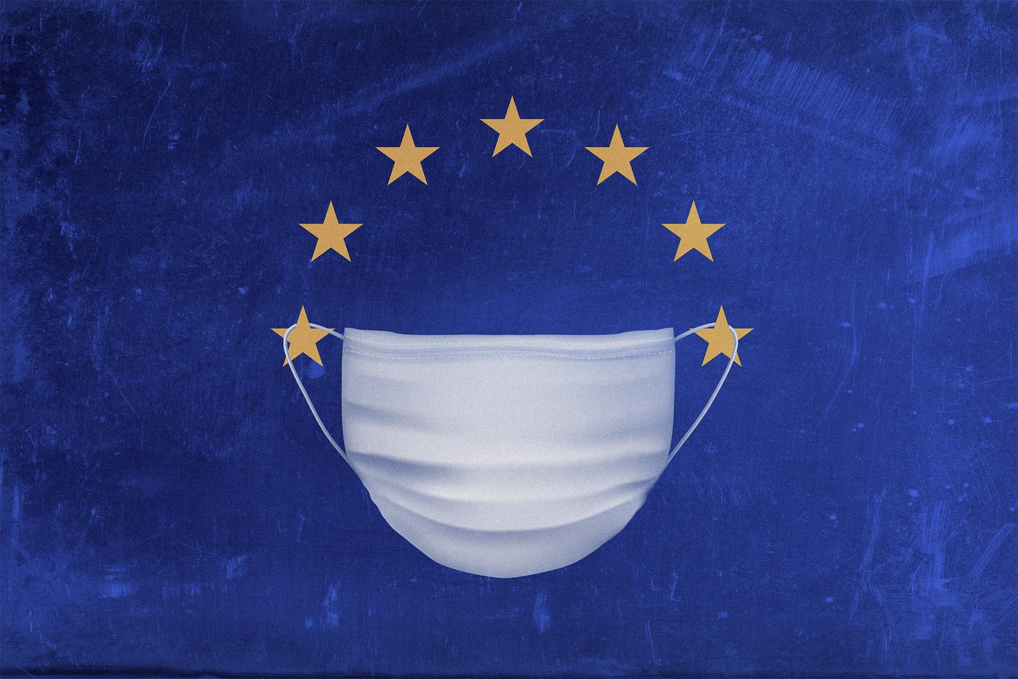 Eurozone-mask. Ilustração: Institute for new economic thinking