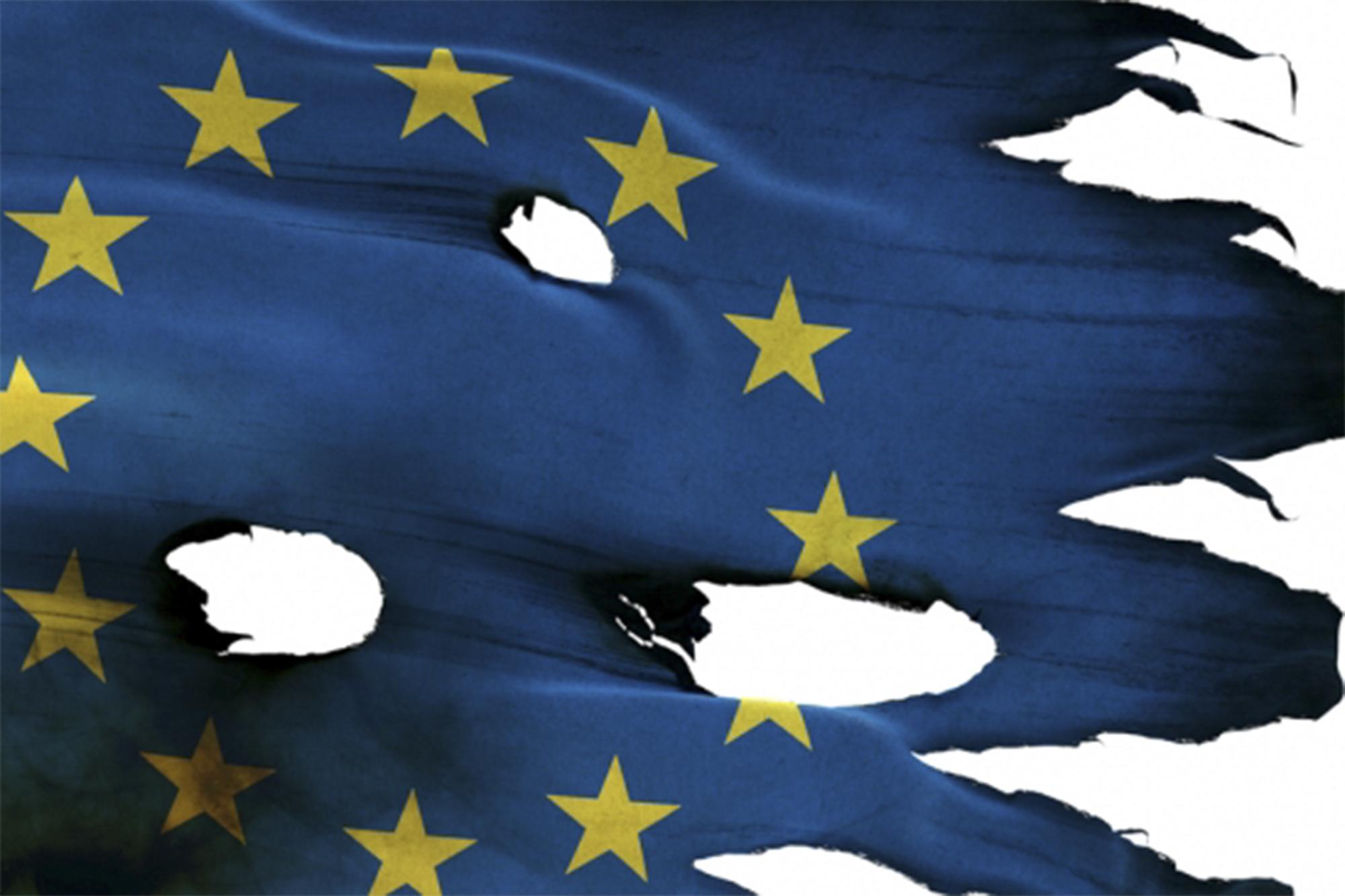 Flag Euro Holes. Ilustração: Center for European Reforms