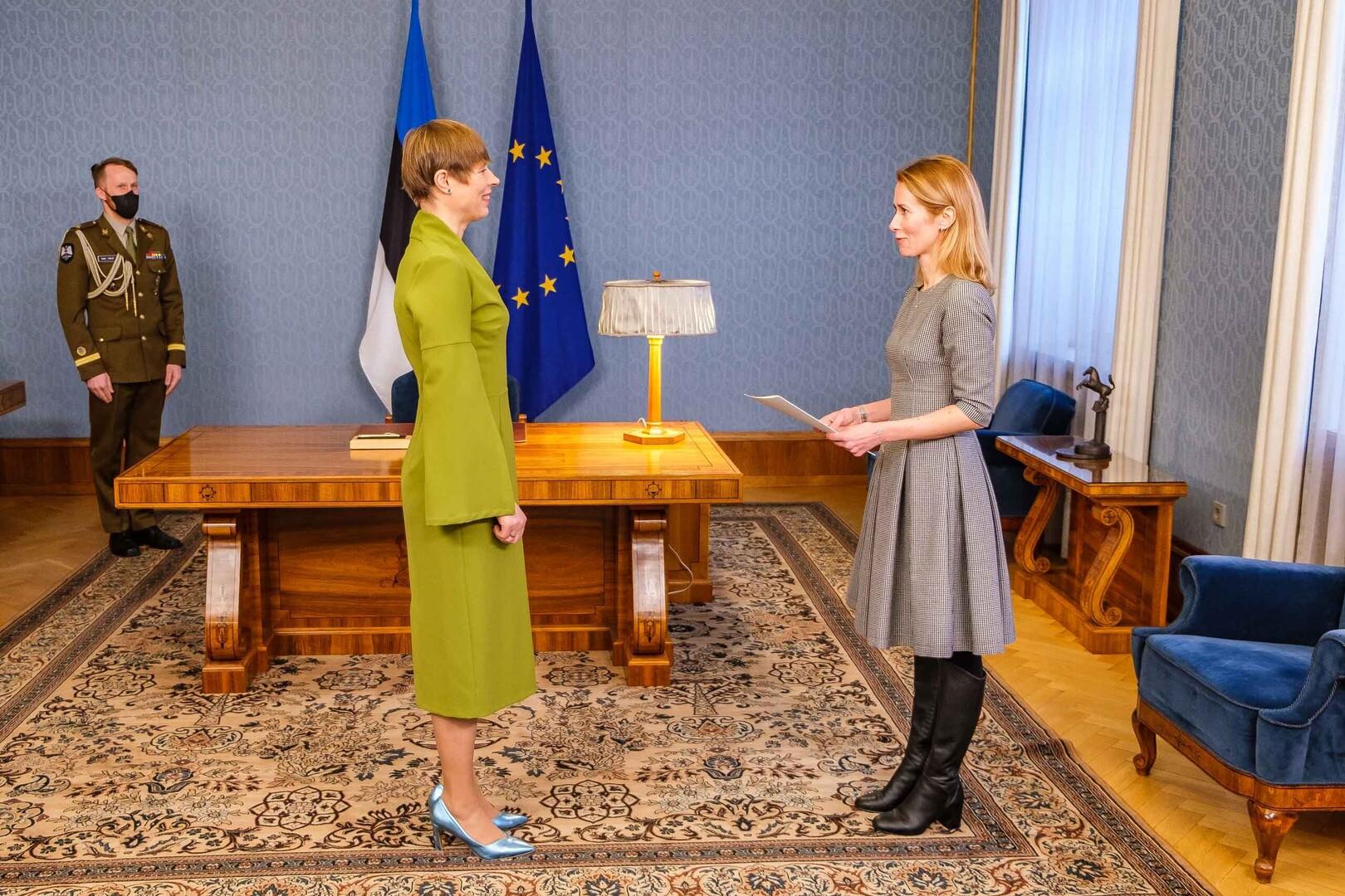 Kersti Kaljulaid e Kaja Kallas